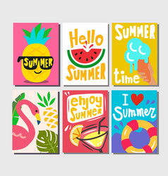 summer themed posters vector image