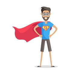 Superhero daddy in costume vector