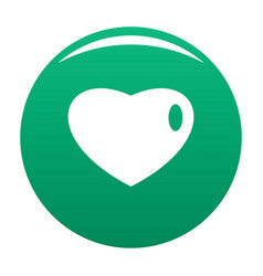 Three-dimensional heart icon green vector