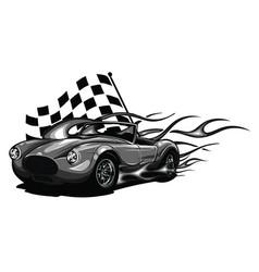 Vintage car hot rod garage hotrods carold vector