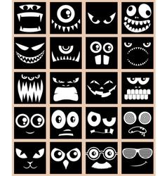 Avatars Black vector image