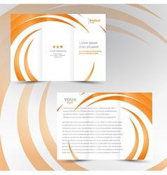 Brochure trifold leaflet geometric spiral element vector