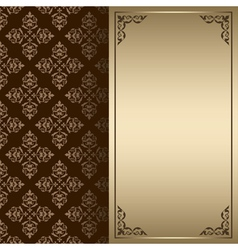 dark brown and gold vintage card vector image vector image