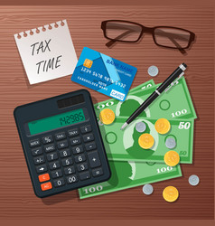 tax time concept design element flat style vector image