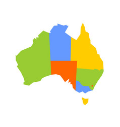 colorful blank map of australia vector image