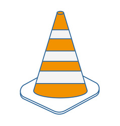 construction cones isolated icon vector image