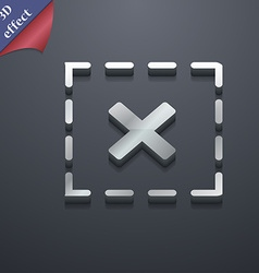 Cross in square icon symbol 3d style trendy modern vector