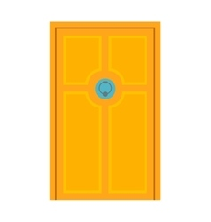 Door isolated vector image