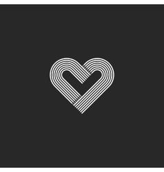 Heart logo monogram wedding invitation decoration vector image vector image