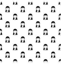 Indian woman pattern vector