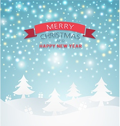 magical Merry Christmas Landscape vector image
