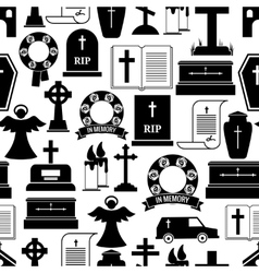 RIP and funeral background pattern vector image