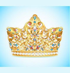 royal golden crown vector image vector image
