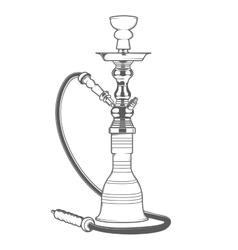Shisha with pipe vector image