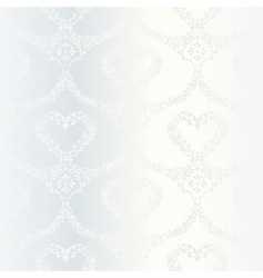 Victorian white satin wedding pattern vector image vector image