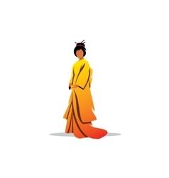 Beautiful Japanese geisha sign Traditional dress vector image vector image