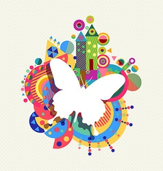 Butterfly icon concept spring color shape vector image vector image