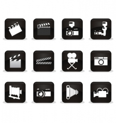 cinema buttons vector image vector image