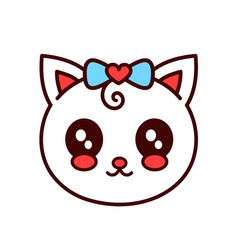 cute smiling funny catkitten face vector image