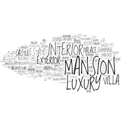 Mansion word cloud concept vector