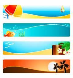 beach time banner backgrounds vector image vector image