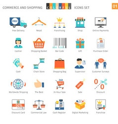Commerce Set 01 vector image vector image
