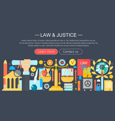 law and justice design concept with justice icons vector image vector image