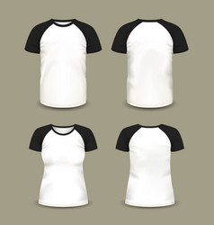 man and woman sport t-shirt vector image