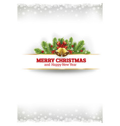 merry christmas vintage card background vector image vector image