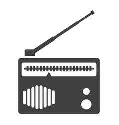 radio solid icon fm and communication vector image