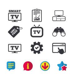 Smart tv mode icon retro television symbol vector