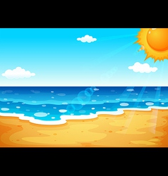A summer at the beach vector image
