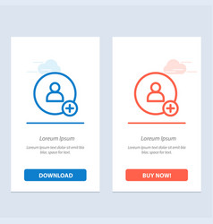 Add contact twitter blue and red download and buy vector