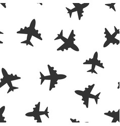 airplane sign icon seamless pattern background vector image