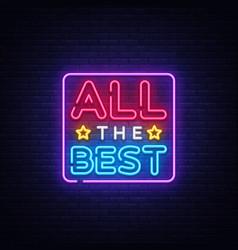All best neon text best neon vector