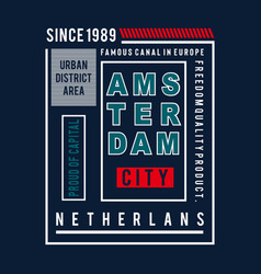 amsterdam city images typography vector image