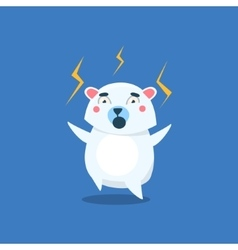 Angry Polar Bear vector