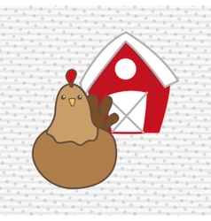 animal farm design vector image