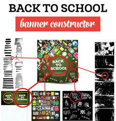 Back To School Banner Constructor vector image