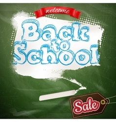 Back to school Sale Label card EPS 10 vector