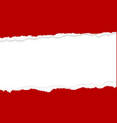 banner design red torn paper edges vector image