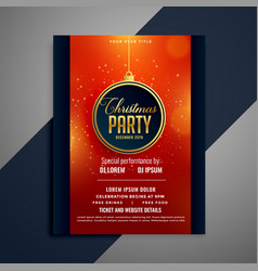 beautiful party flyer for christmas celebration vector image