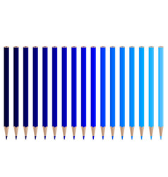 blue pencils vector image