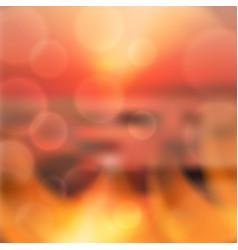 blurred summer sea sunset background vector image