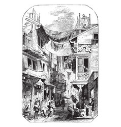 canton vintage vector image