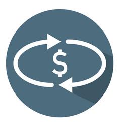 Cashback money icon transfer convert exchange vector