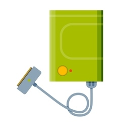 Charger flat vector
