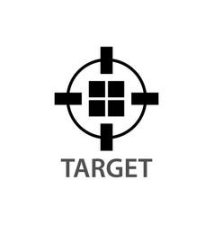 circle block target logo concept design symbol vector image