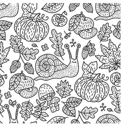 cozy fall autumn doodle vector image