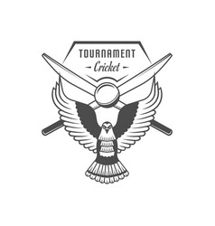 Cricket tournament logotype vector